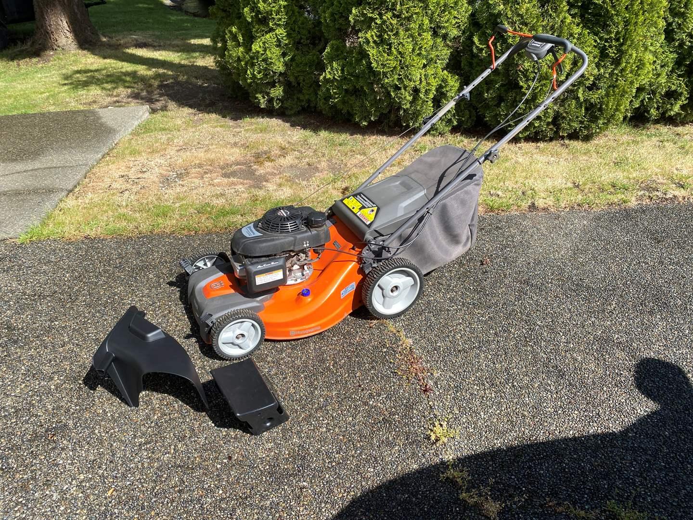 Lot # 157 - Lightly Used Husqvarna RWD Auto Walk LC22lRH Lawnmower w/ Easy Start Engine - (Fires Right Up) (main image)