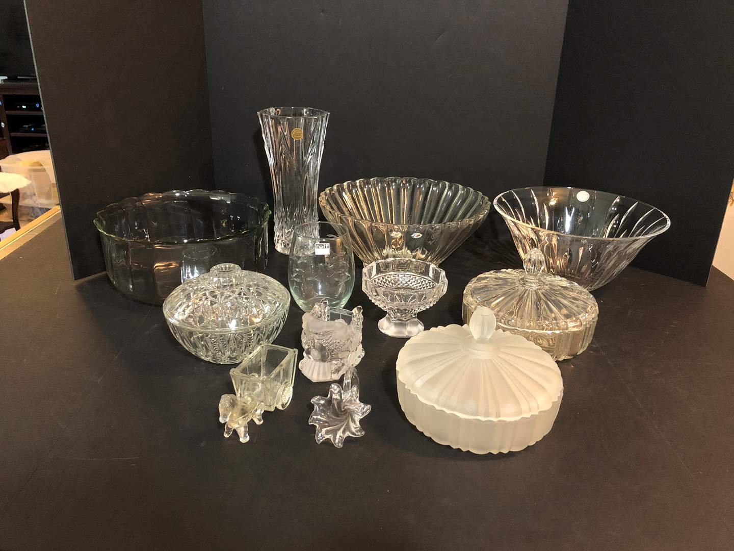 Lot # 51 - Selection of Crystal: Bowls, Vases, Candy Dishes, Small Figurines & More..  (main image)