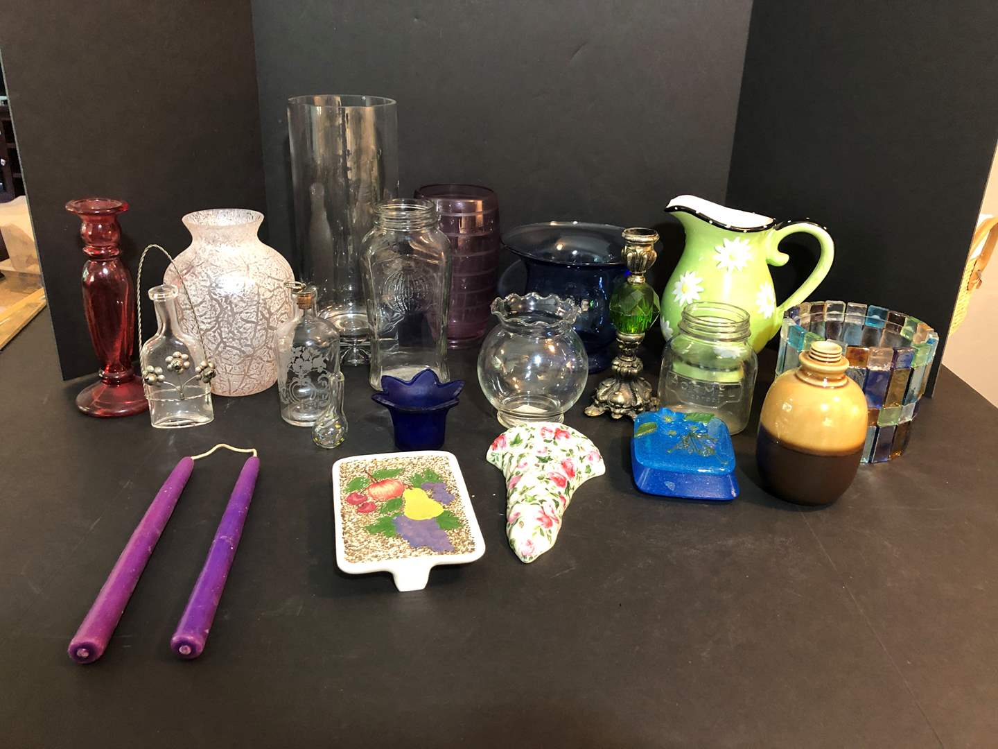 Lot # 53 - Vases of Various Sizes, Candle Holder & More..  (main image)
