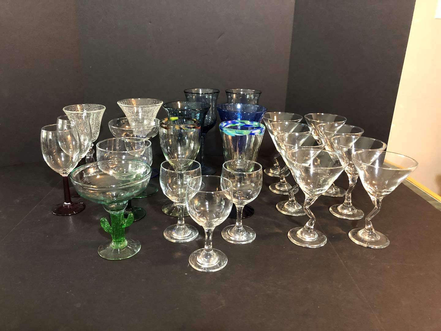 Lot # 58 - Awesome Selection of Stemware & Some Hand Blown Glass  (main image)