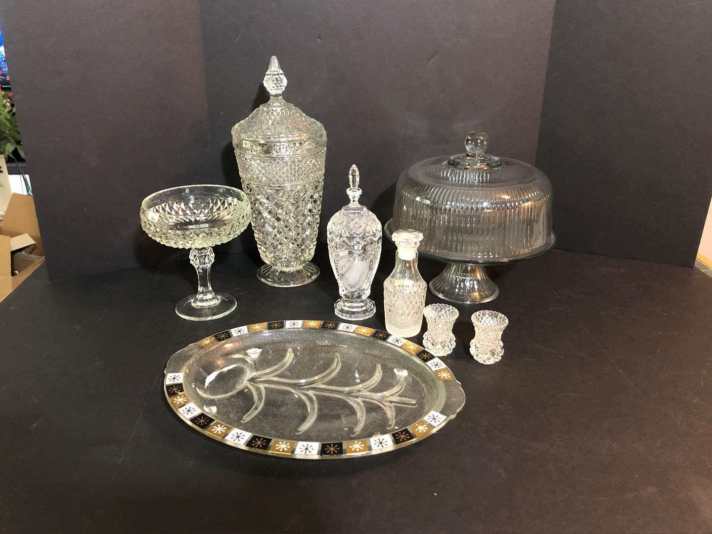 Lot # 68 - Awesome Glass Cake Stand & More Crystal Items (main image)