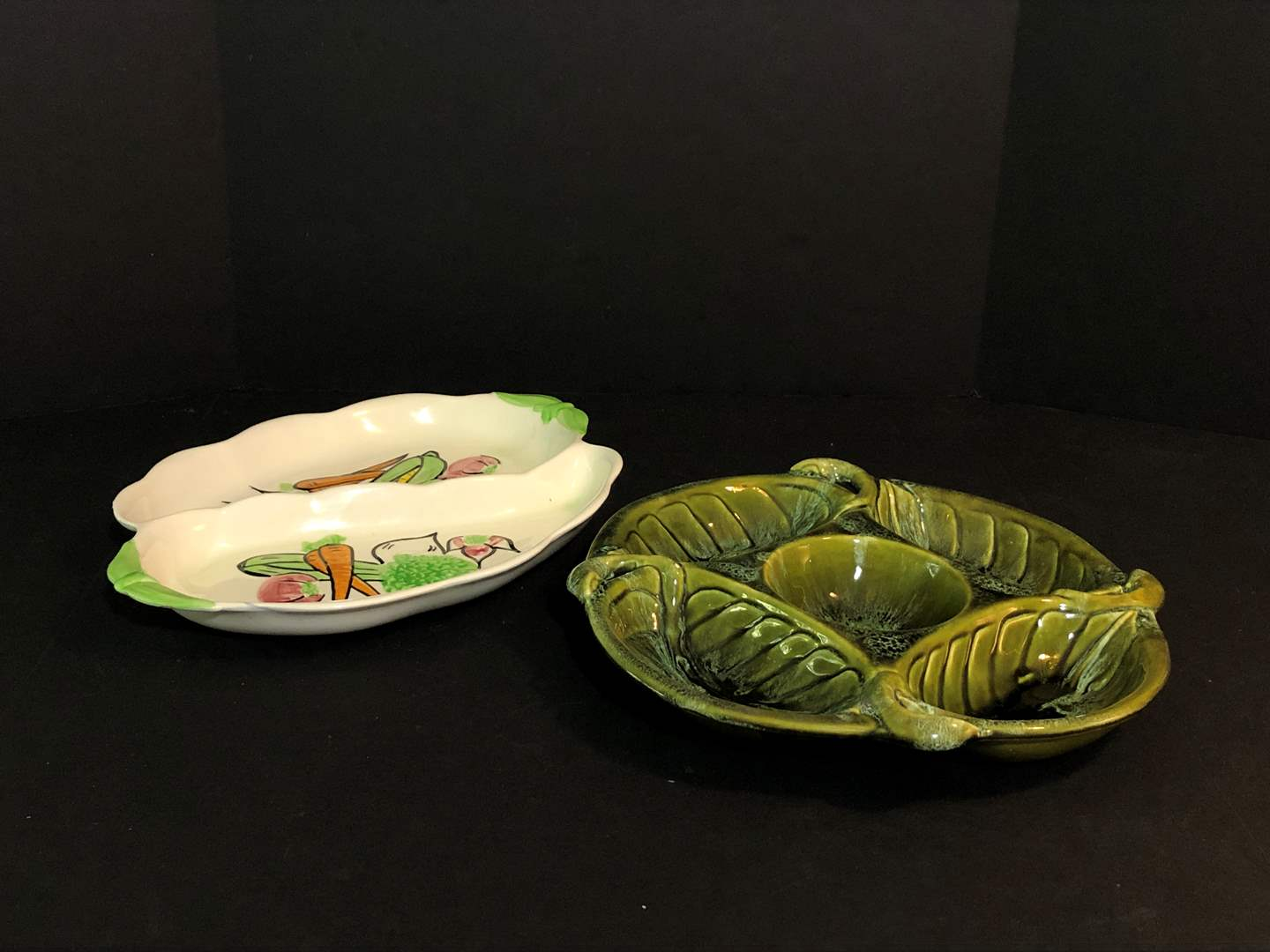 Lot # 69 - 2 Vintage California USA Snack Dishes Numbered #2302 & 722 (main image)