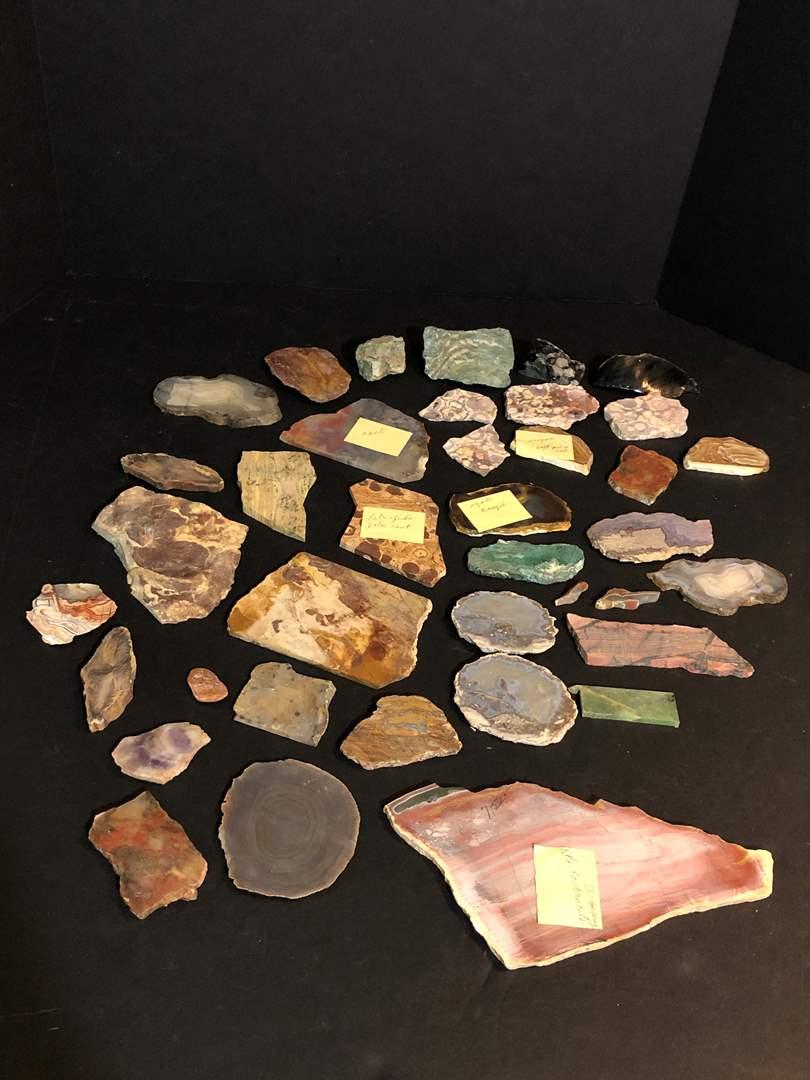 Lot # 152 - Awesome Selection of Stone & Crystal Slabs (Unpolished) (main image)