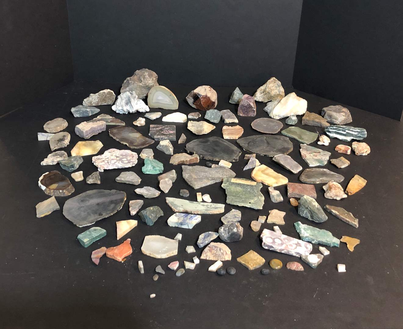 Lot # 153 - Cool Collection of Unpolished Slabs of Stone of Various Varieties  (main image)