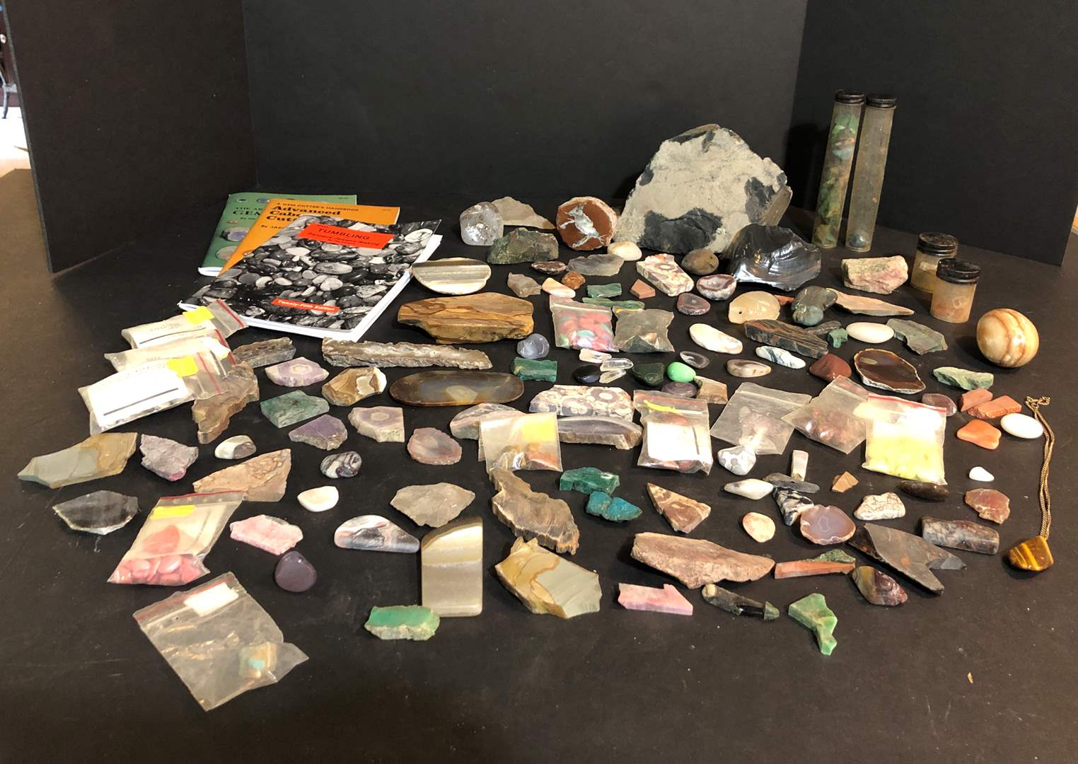Lot # 154 - Awesome Polished Rock Collection & Some Not Polished, Rock Tumbling Books (main image)
