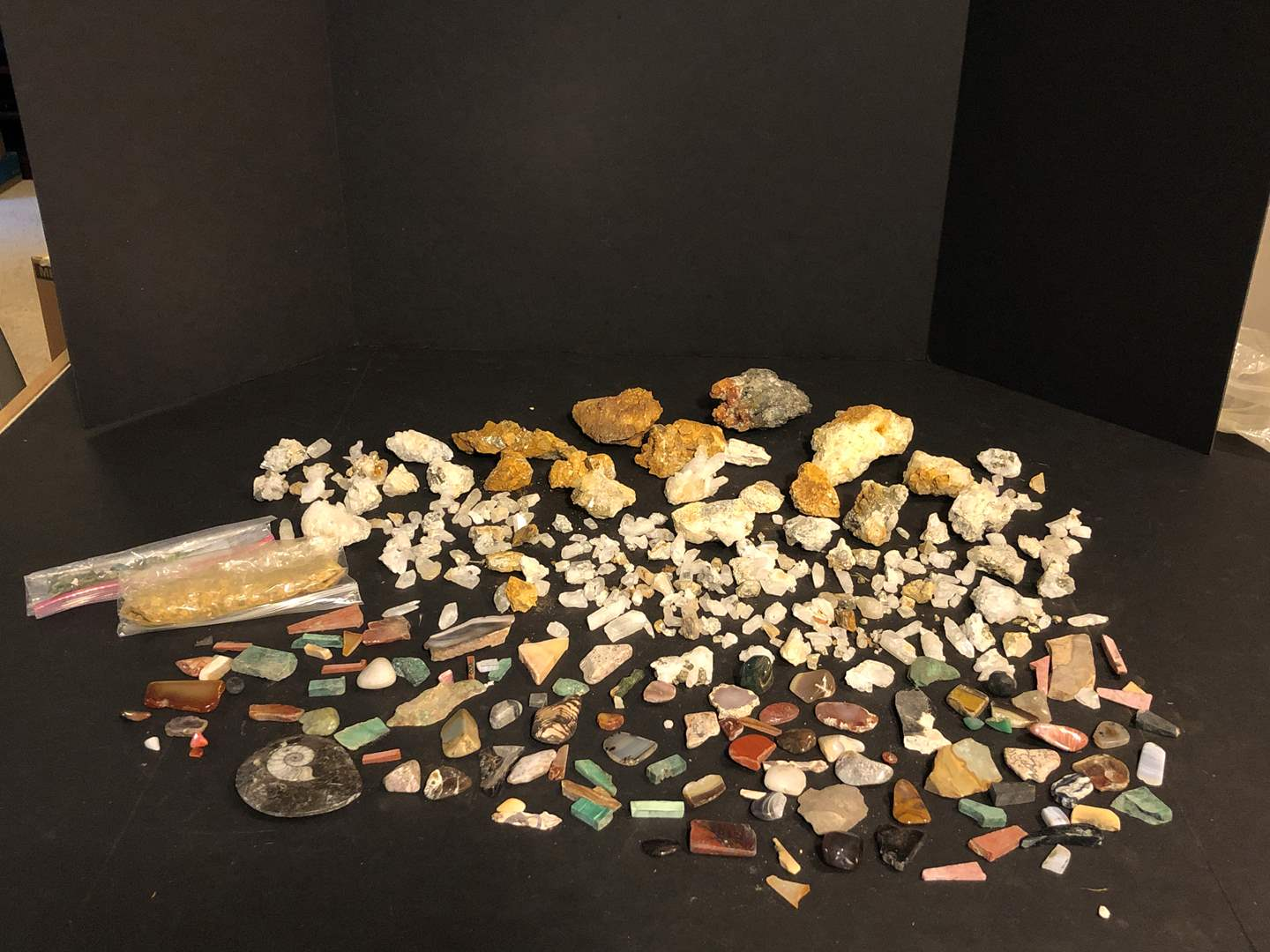 Lot # 155 - Awesome Collection of Hand Mined Rough Quartz & Selection of Polished Stones (main image)