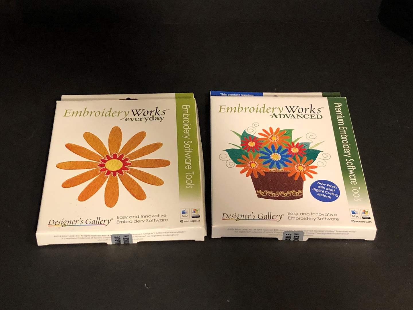 Lot # 191 - Embroidery Works Advanced & Embroidery Works Everyday Software Tools  (main image)