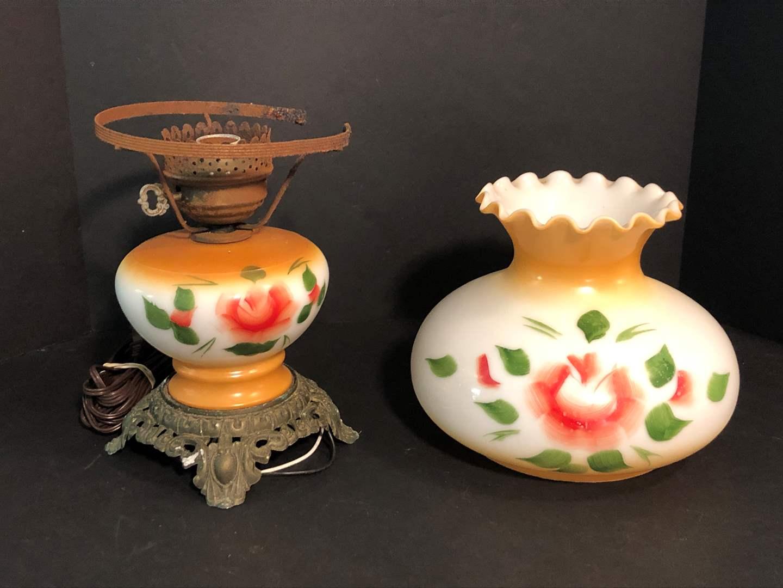 Lot # 196 - Awesome Vintage Hurricane Lamp  (main image)