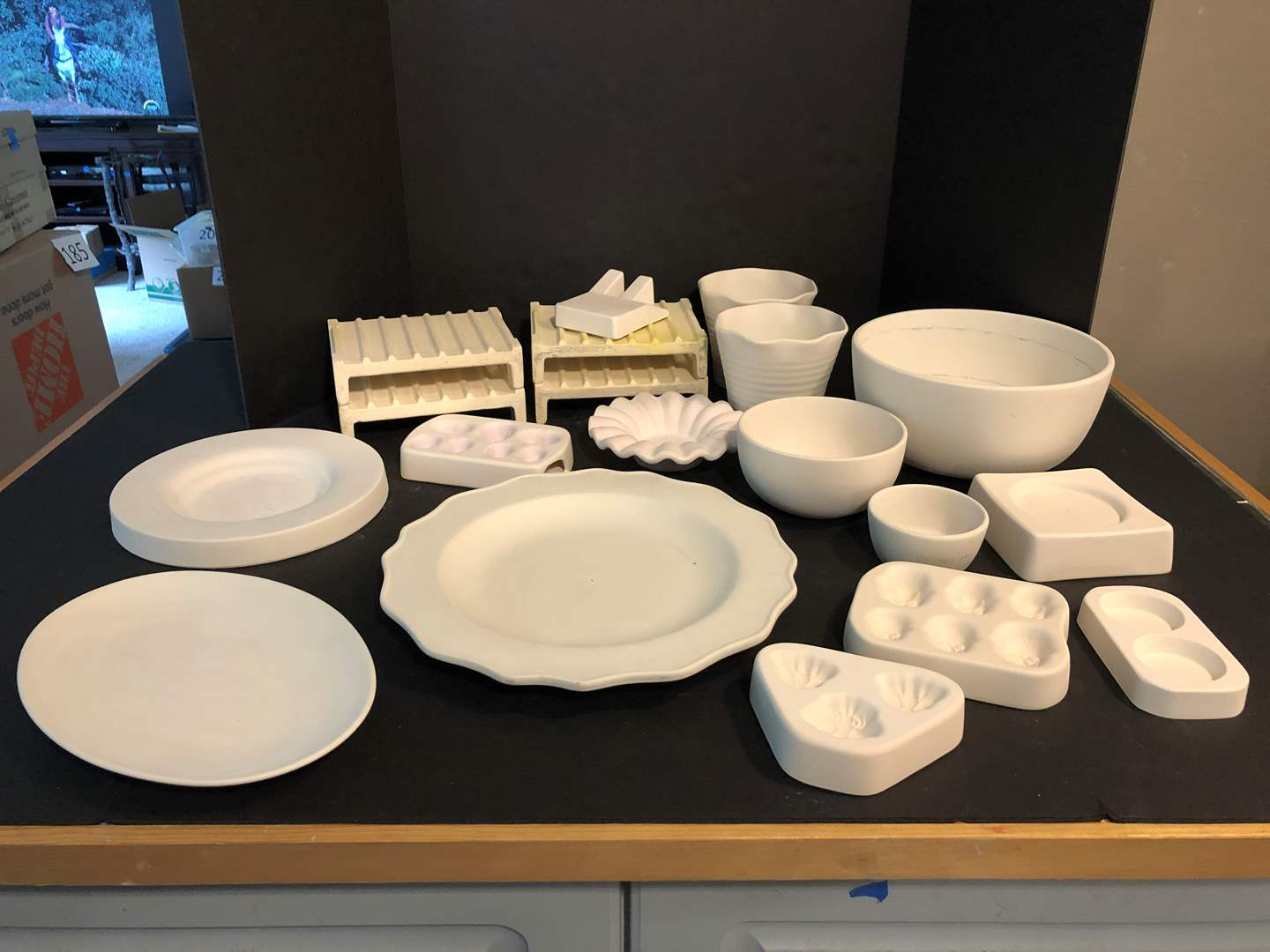 Lot # 171 - Awesome Selection of Glass Molds: Bowls, Platters, Honey Bees, Skulls & More..  (main image)