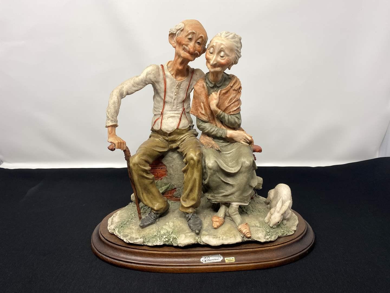 Lot # 28 - Rare Vintage Giuseppe Armani Capodimonte Italian Old Man & Woman Figurine  (main image)