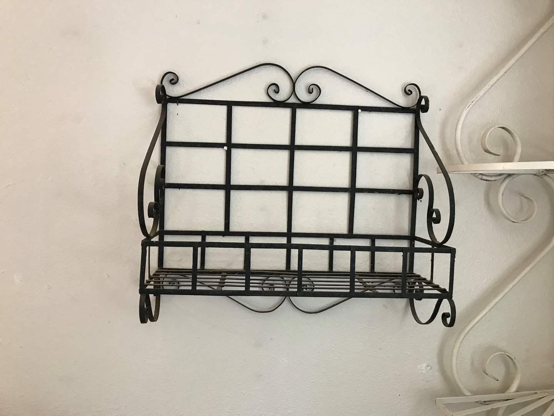 Lot # 17 - Hanging Black Metal Shelf  (main image)