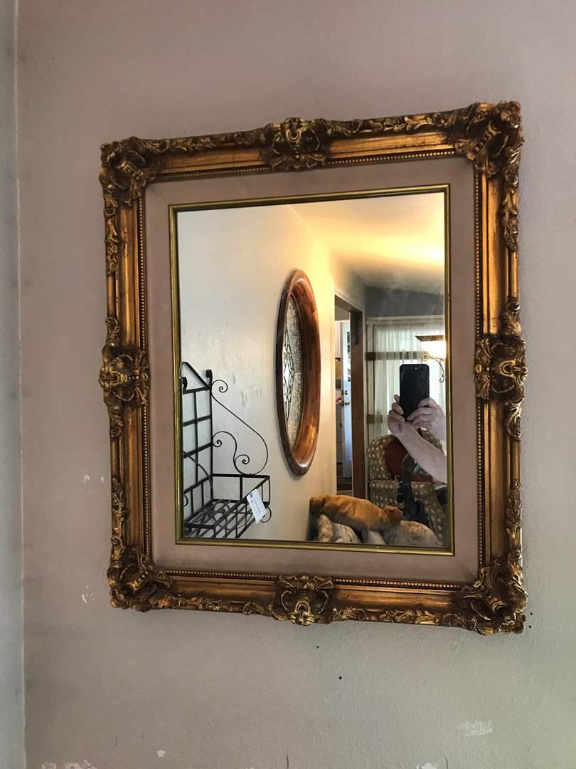 Lot # 19 - Beautiful Gold Framed Mirror  (main image)
