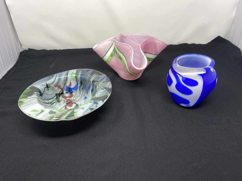 Lot # 33 - Beautiful Unique Handmade Glass Art Made by Local Artist Carol James (main image)