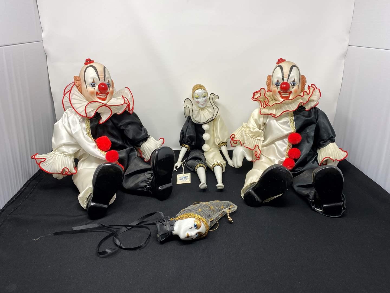 Lot # 36 - Vintage Porcelain Clowns (main image)