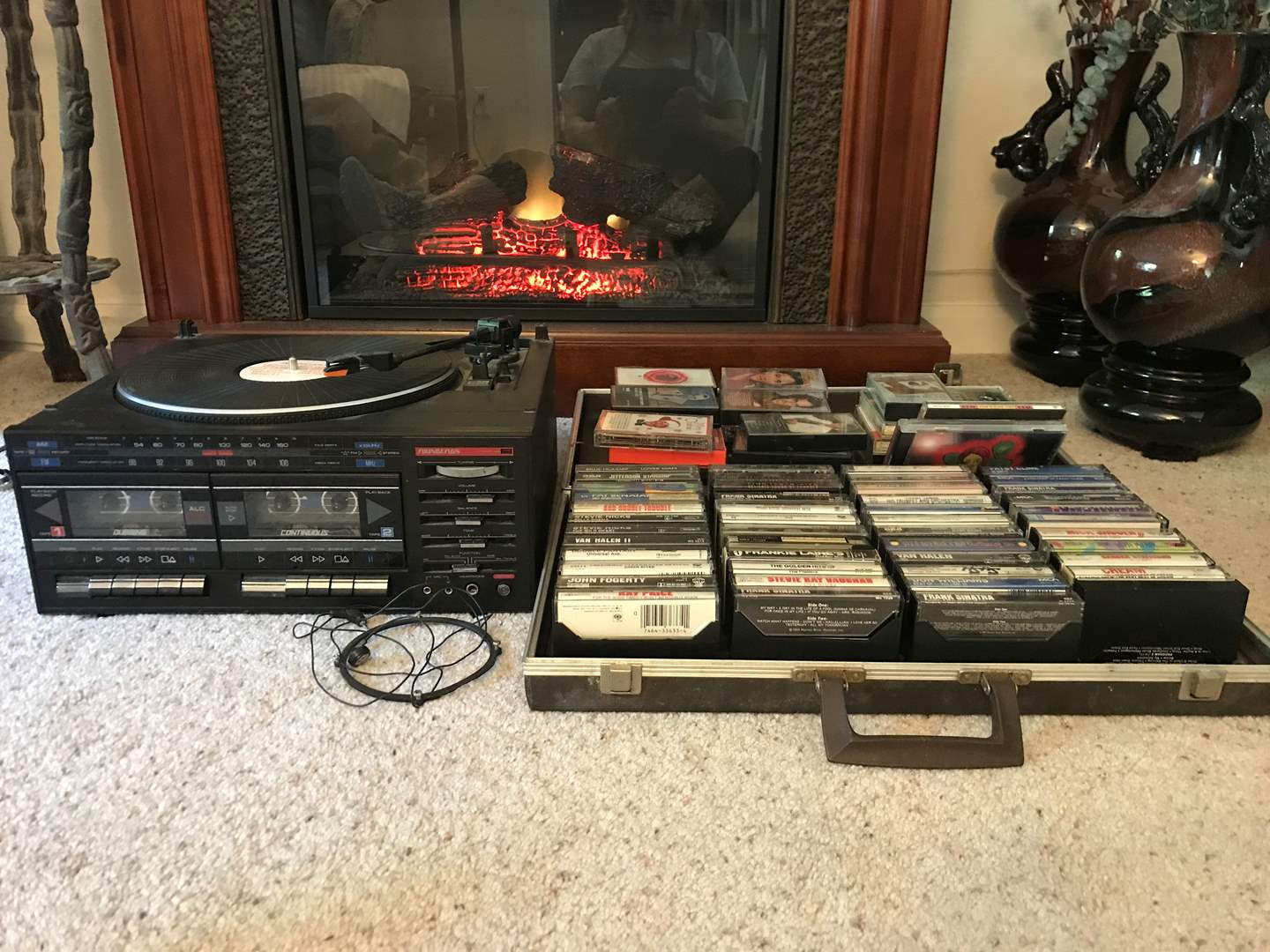 """Lot # 24 - Soundesign Stereo System w/Turn Table, DVD's Cassettes, """"All She Wrote"""" DVD Signed by Entire Band (main image)"""