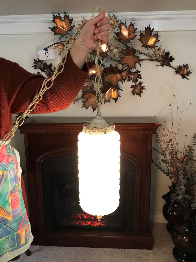 Lot # 75 - Antique Swag Lamp (main image)