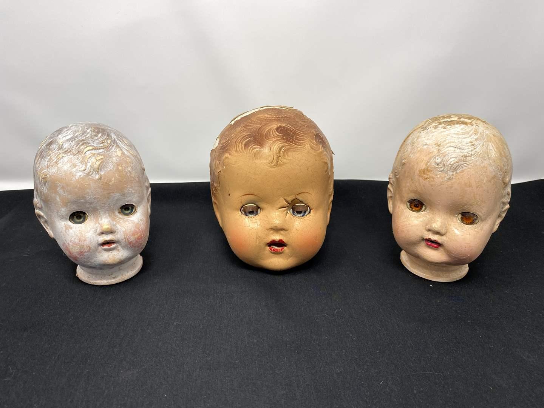 Lot # 42 - Vintage Baby Dolls Heads (main image)