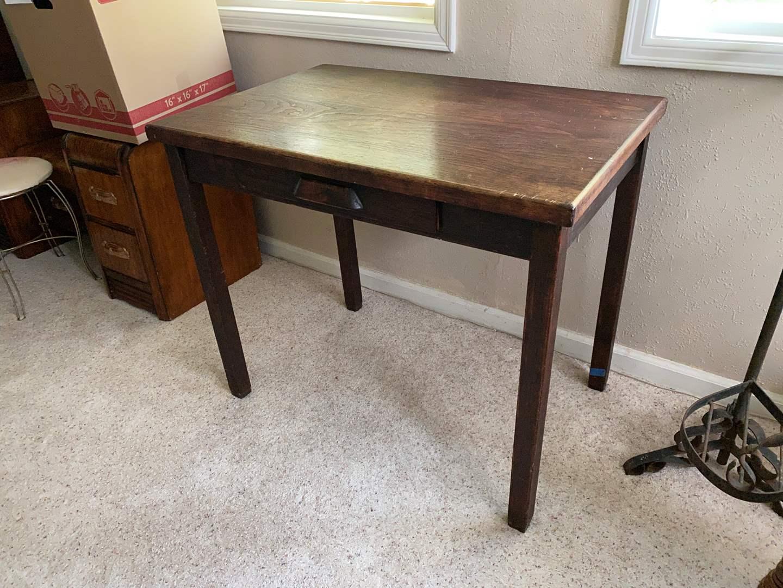 Lot # 49 - Cute Small Antique Desk  (main image)