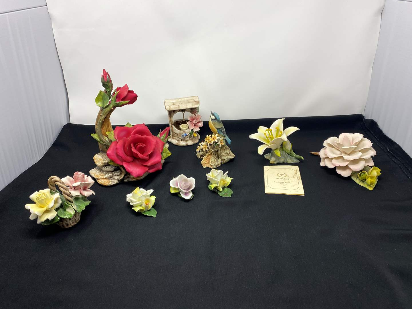 Lot # 107 - Beautiful Selection of Capodimonte Napoleon Floral Items (main image)