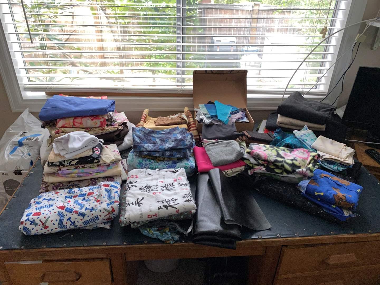 Lot # 146 - Nice Selection of Sewing Fabrics  (main image)