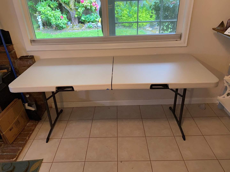 Lot # 159 - LifeTime 6' Folding Table  (main image)