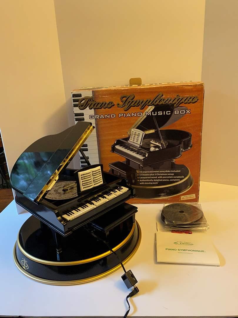 Lot # 179 - Piano Synehonique Grand Piano Music Box w/Music - (See Video) (main image)