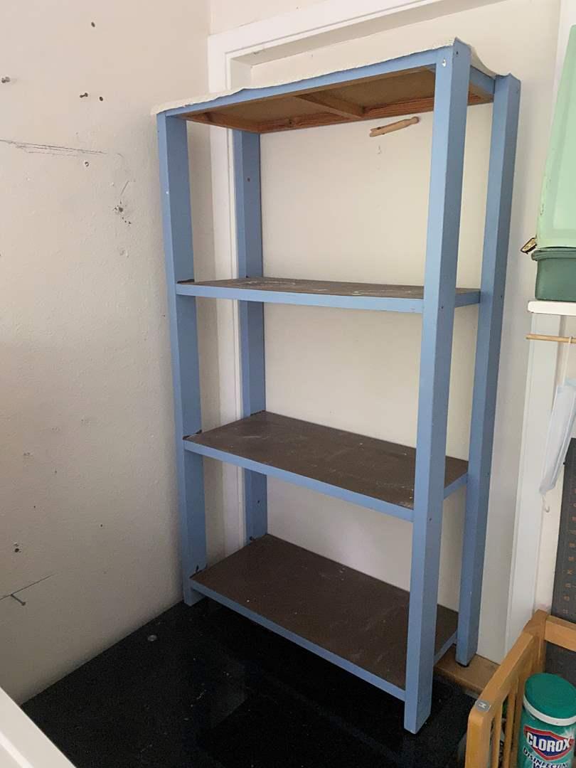 Lot # 212 - Small Blue Shelf (main image)