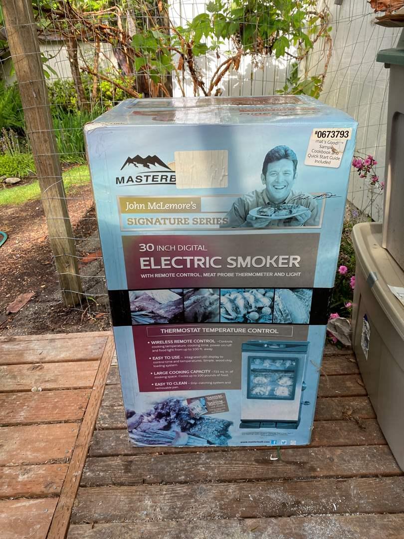 """Lot # 233 - New in Box Materbuilt John McLemores Signature Series 30"""" Digital Electric Smoker (main image)"""