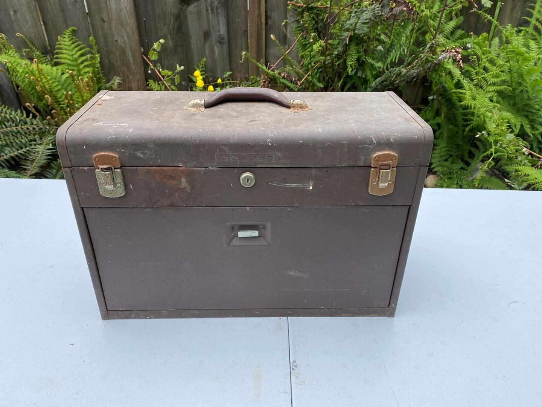 Lot # 239 - Vintage Kennedy Machinist Toolbox w/Tools (main image)
