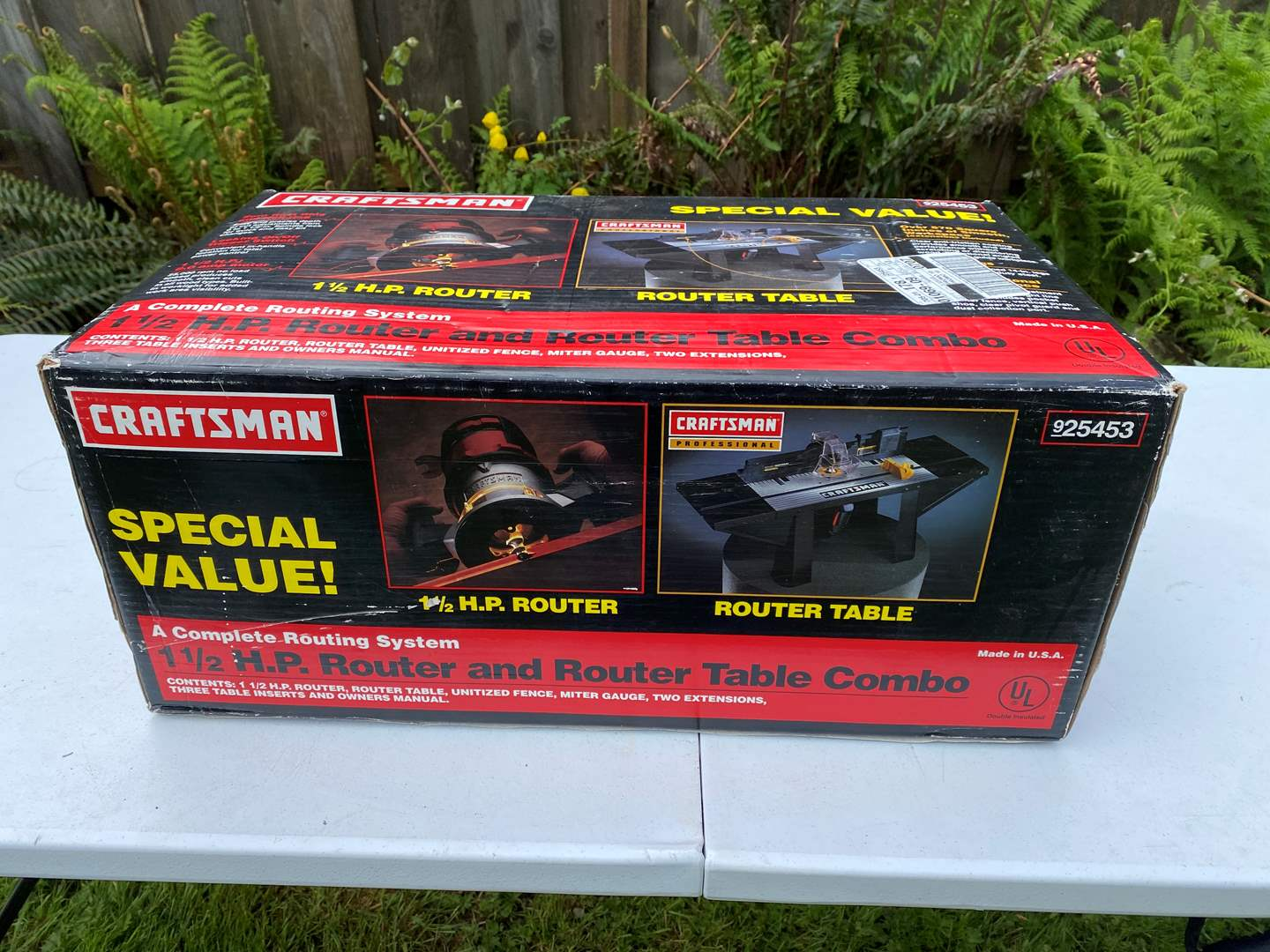 Lot # 240 - New in Box Craftsman 1-1/2 H.P. Router & Router Table Combo (main image)