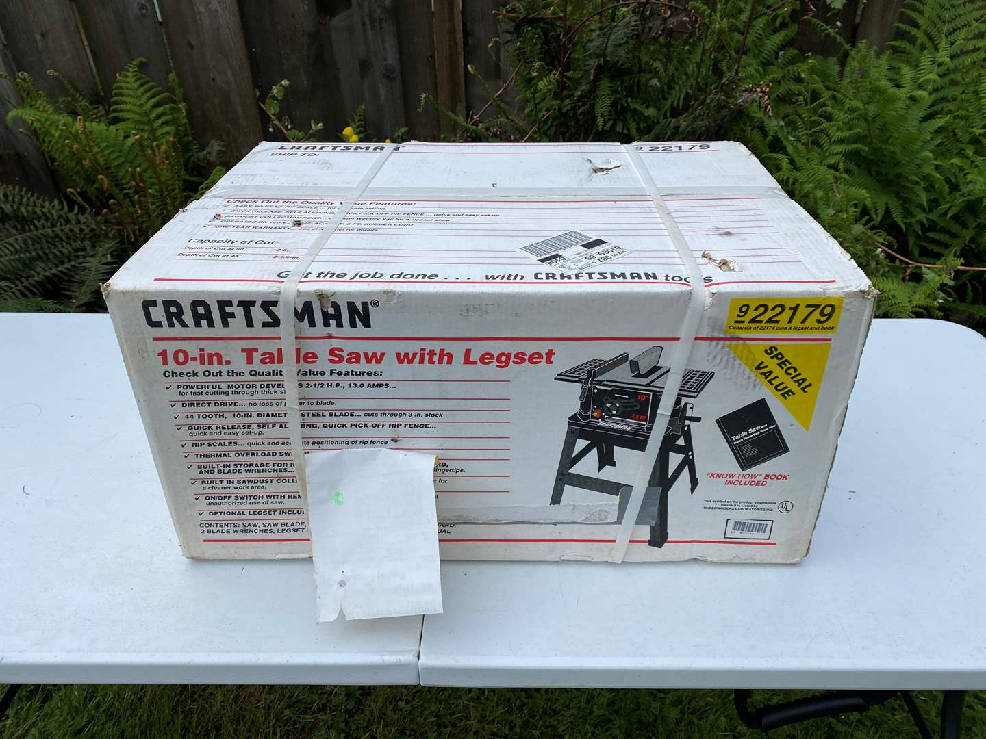 """Lot # 241 - New in Box Craftsman 10"""" Tablesaw (main image)"""