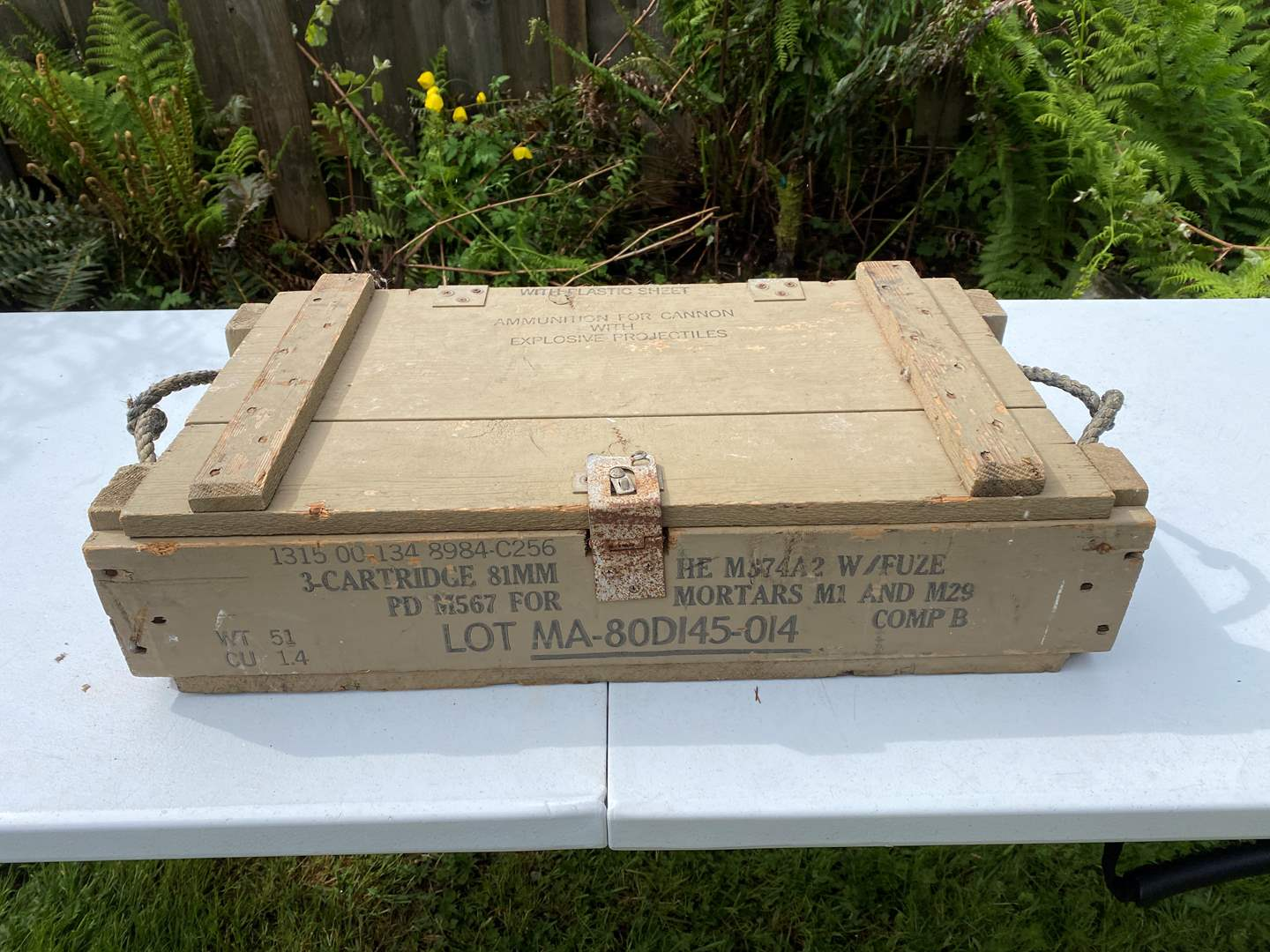 Lot # 244 - Vintage M1 & M29 Military Mortar Ammo Crate (main image)
