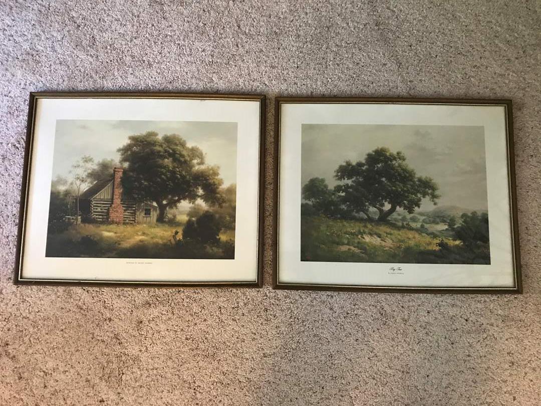 "Lot # 81 - Two Vintage Prints ""Big Tree"" by Dalhart Windberg & ""Yester Year"" by Dalhart Windberg (main image)"