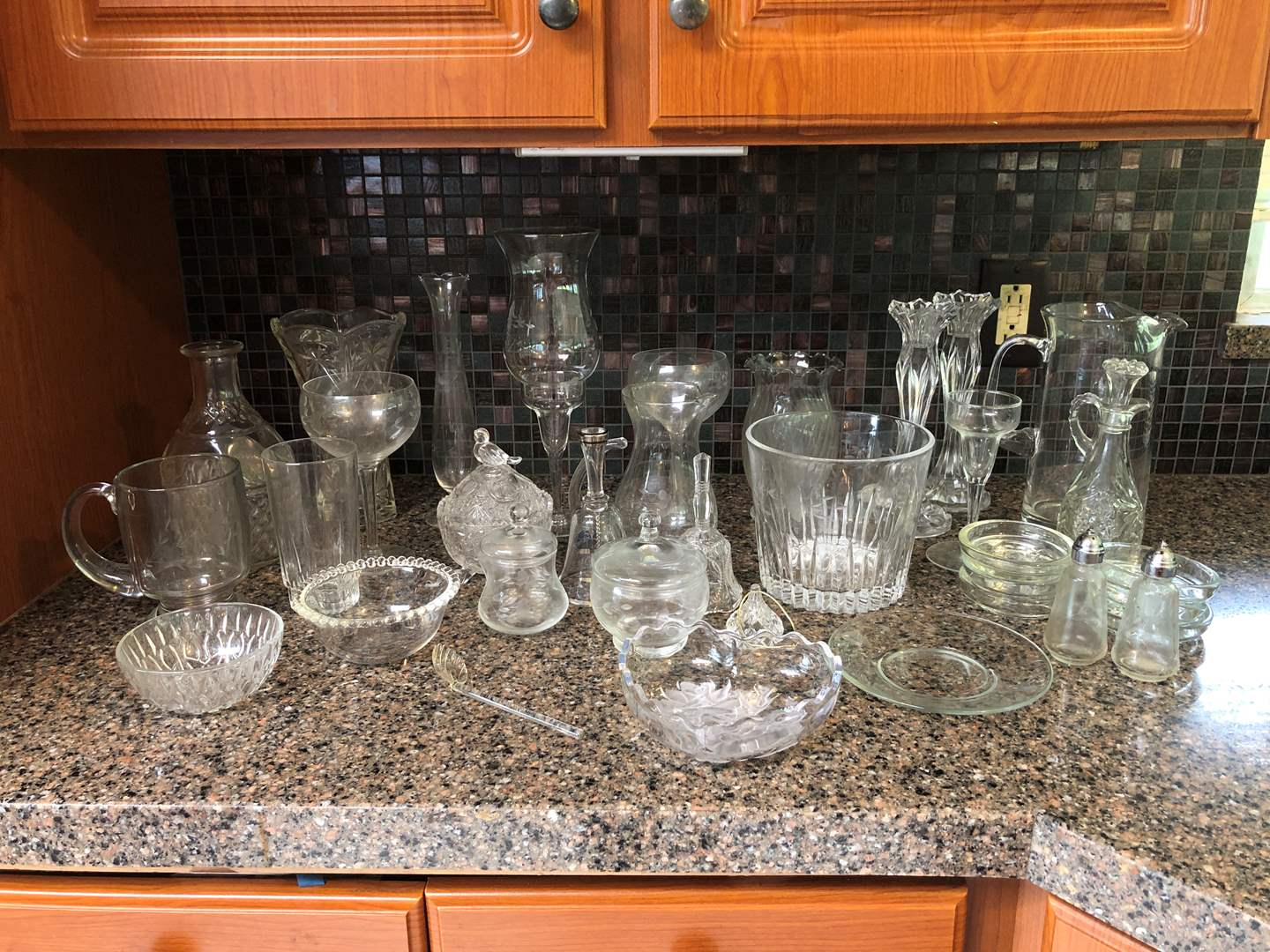 Lot # 57 - Selection of Crystal Items: Vases, Bowl, Cups, Princess House & More.. (main image)
