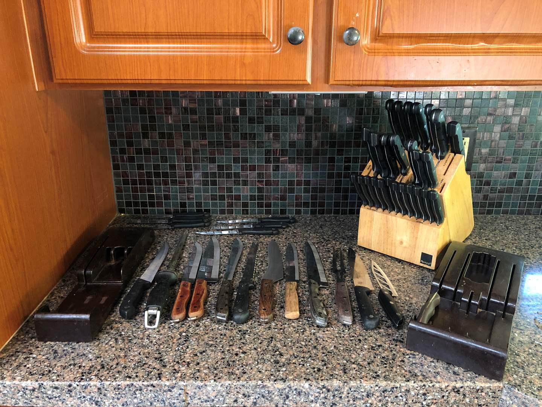 Lot # 69 - Cutco Knife & Knife Holders, Knife Block Full of Knives  (main image)