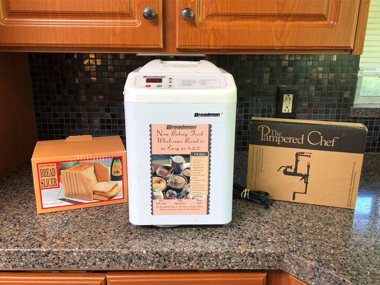 Lot # 139 - Bread Maker, Pampered Chef Peeler & More..  (main image)