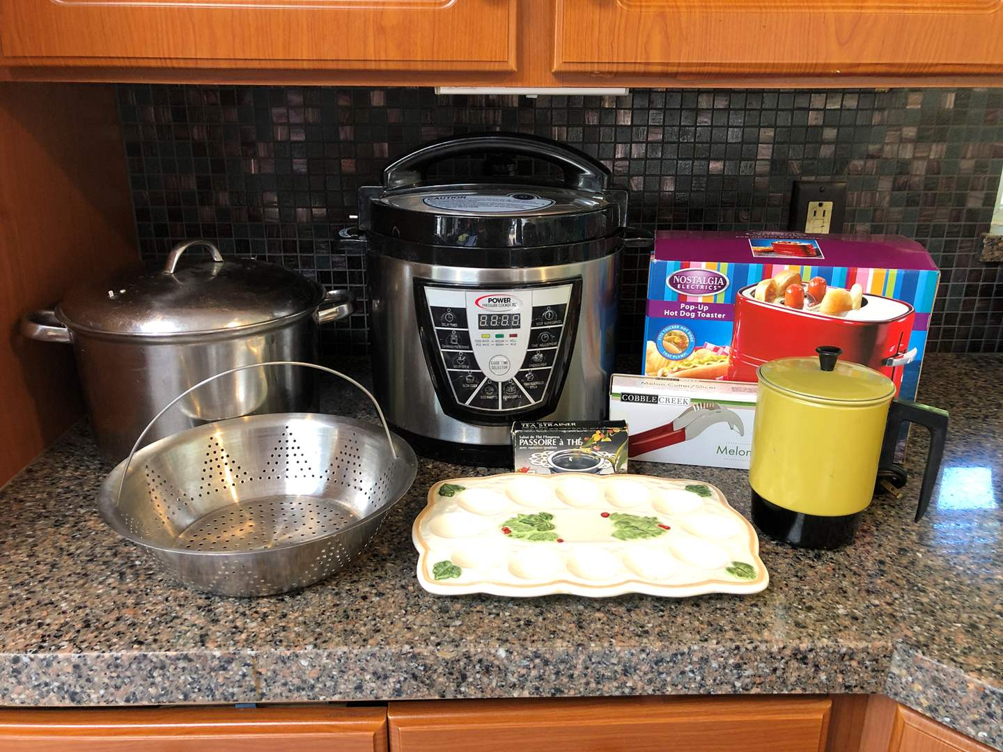 Lot # 142 - Power Pressure Cooker XL, Hot Dog Toaster, Egg Plate (main image)