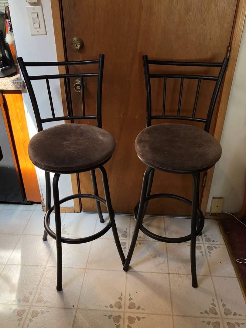 Lot # 145 - Two Swiveling Bar Stools (main image)