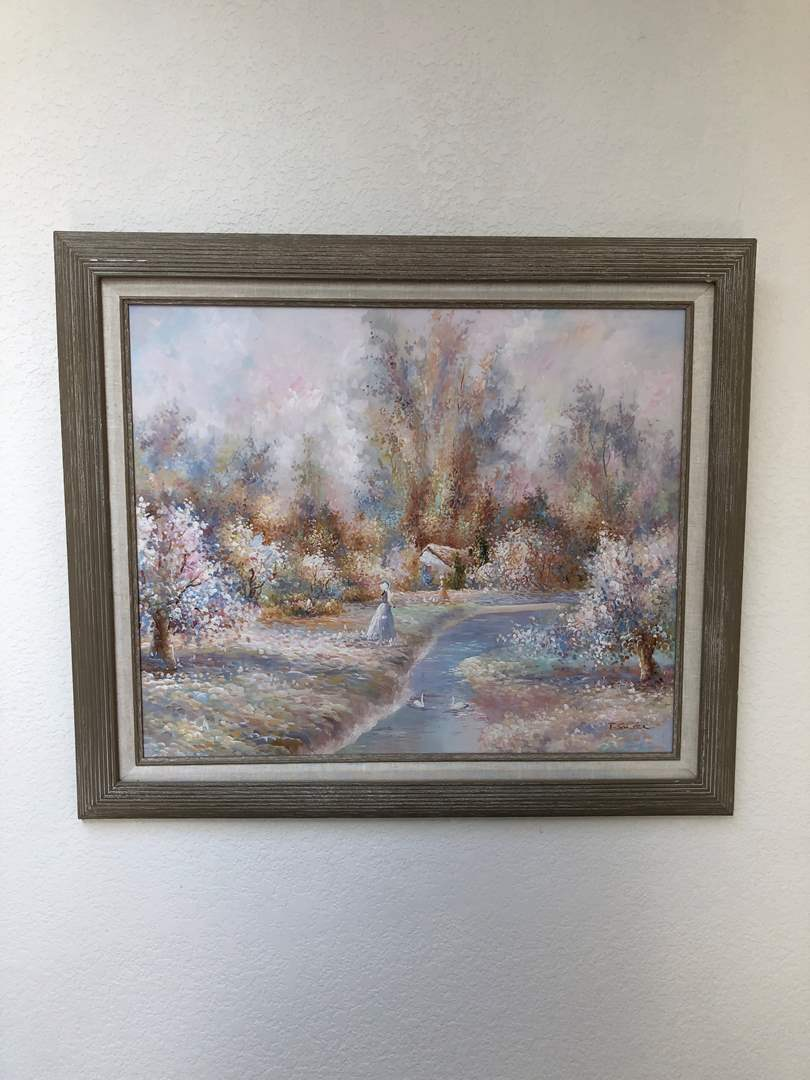 Lot # 161 - Beautiful Painting on Canvas Signed by P.Sander(?) (main image)