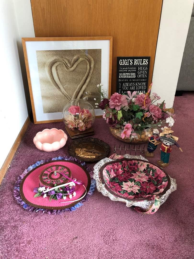 Lot # 165 - Misc. Wall Art, Faux Flower Arrangement (main image)