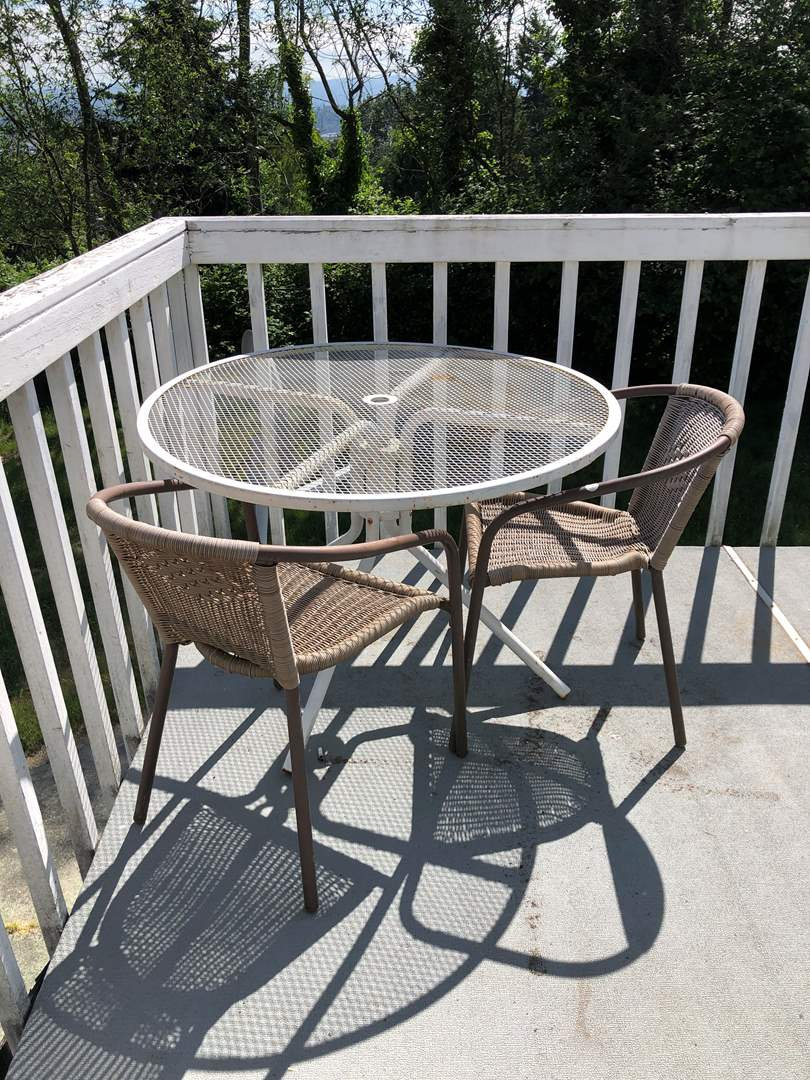 Lot # 215 - Outdoor Table w/ 2 Chairs  (main image)