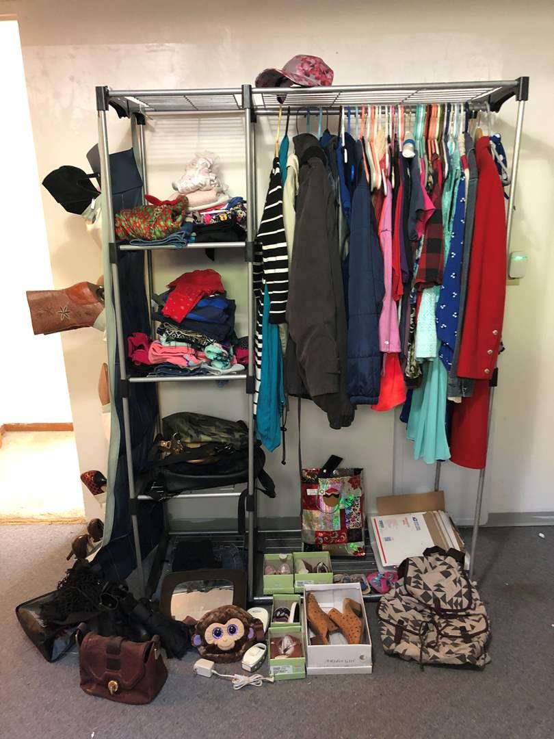 Lot # 232 - Clothing Rack Full of Women's & Children's Clothing (main image)