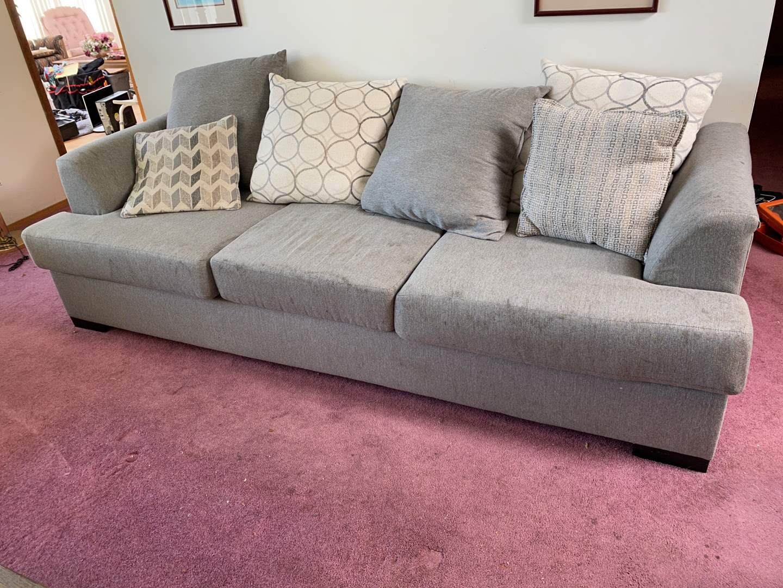 Lot # 7 - Gray Sofa (main image)