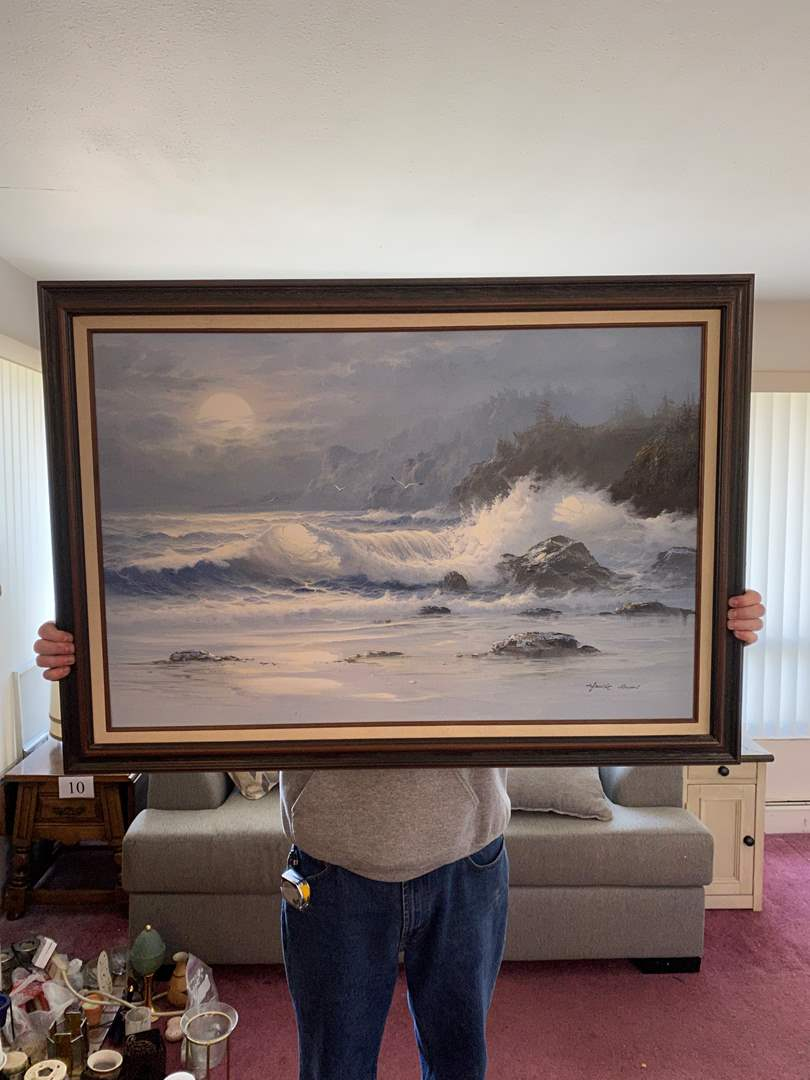 Lot # 15 - Large Original Oil on Canvas Signed Younle Hoon(?) (main image)