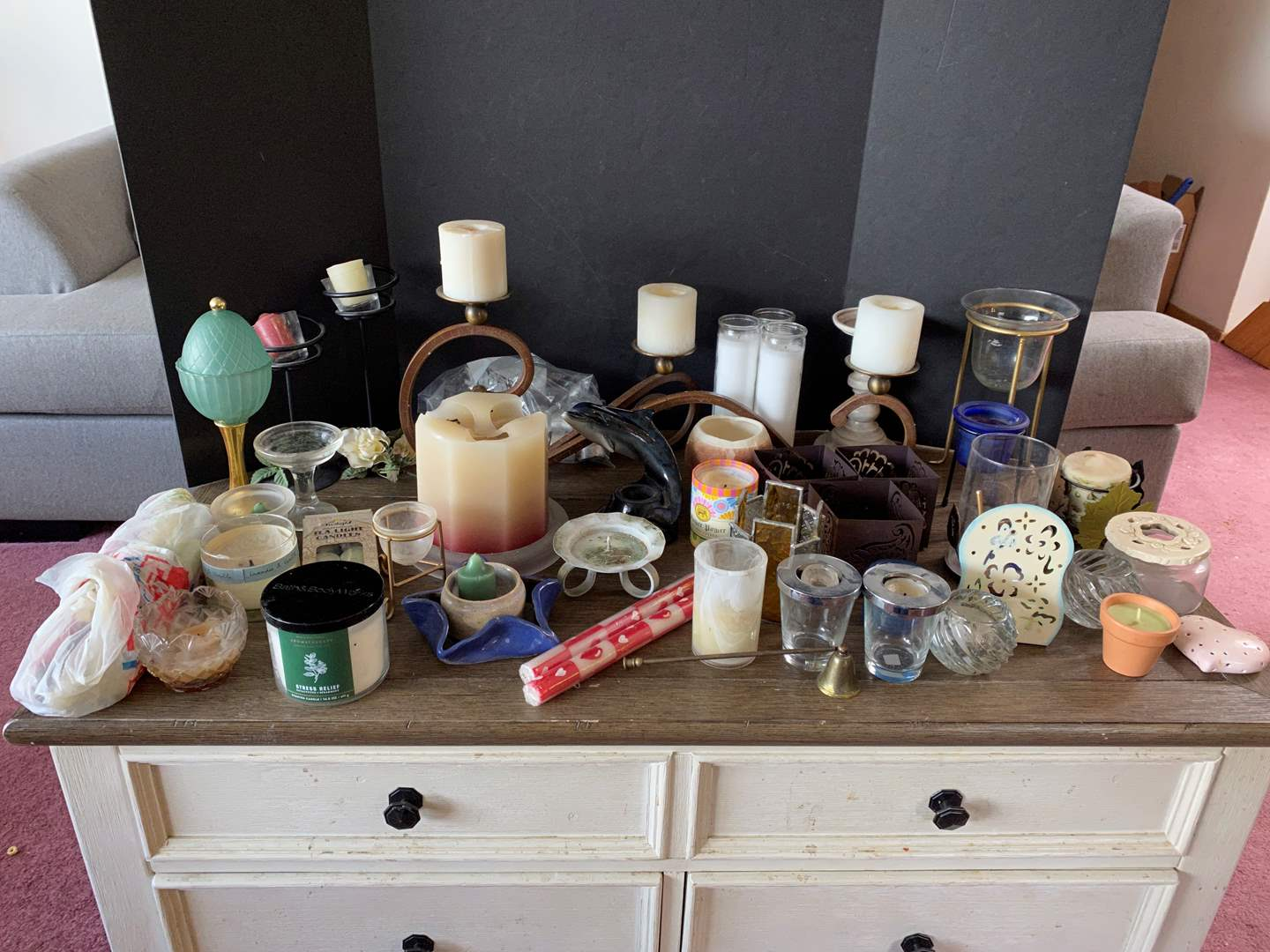 Lot # 16 - Selection of Candles & Holders (main image)