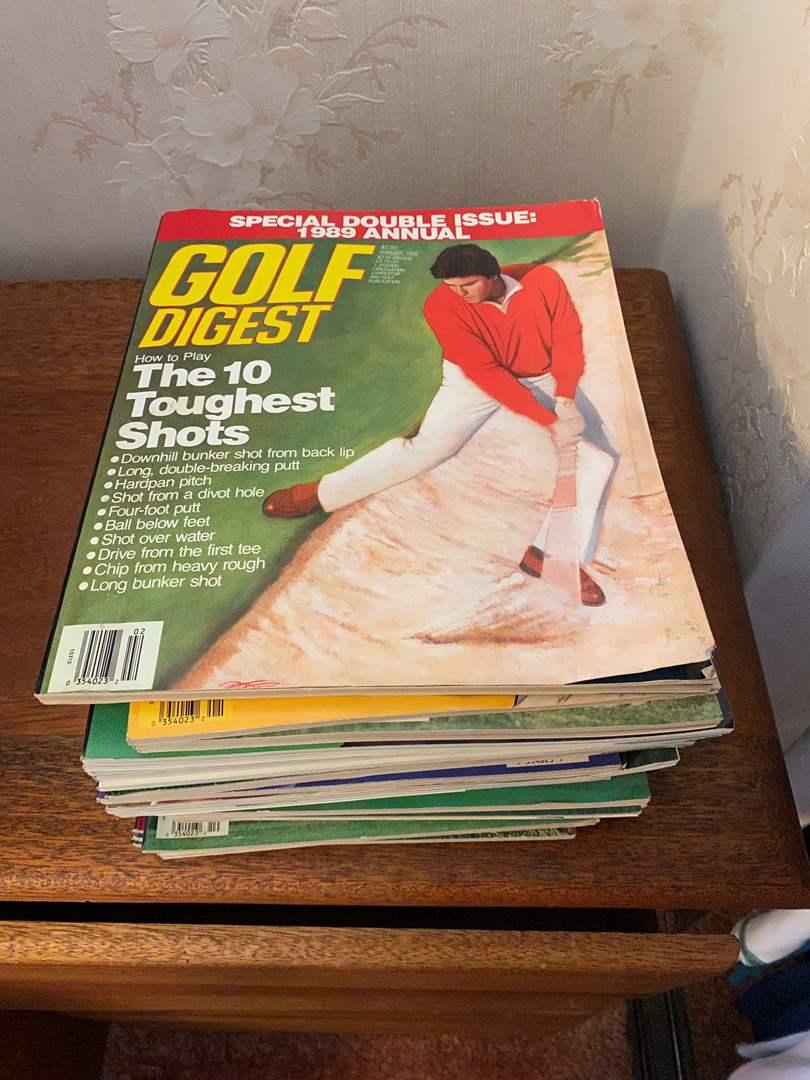 Lot # 26 - Vintage Golf Digest Magazines, 2007 Mariah Carey Playboy Magazine (main image)