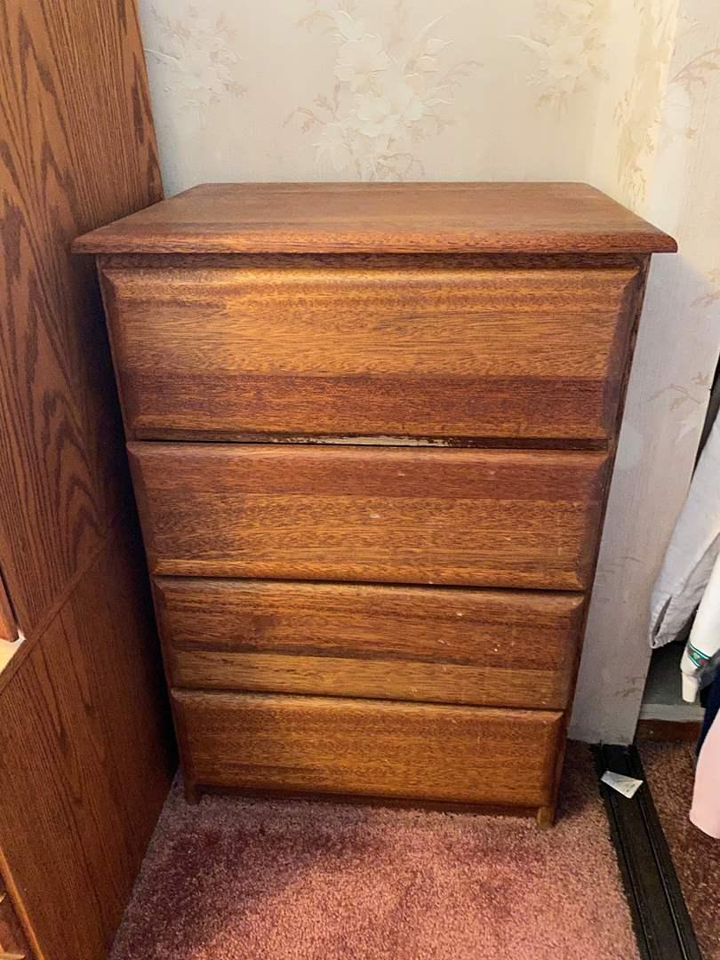 Lot # 28 - Wood 4-Drawer Dresser (main image)