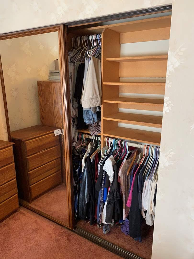 Lot # 30 - Closet Full of Women's Clothing of Various Sizes (main image)