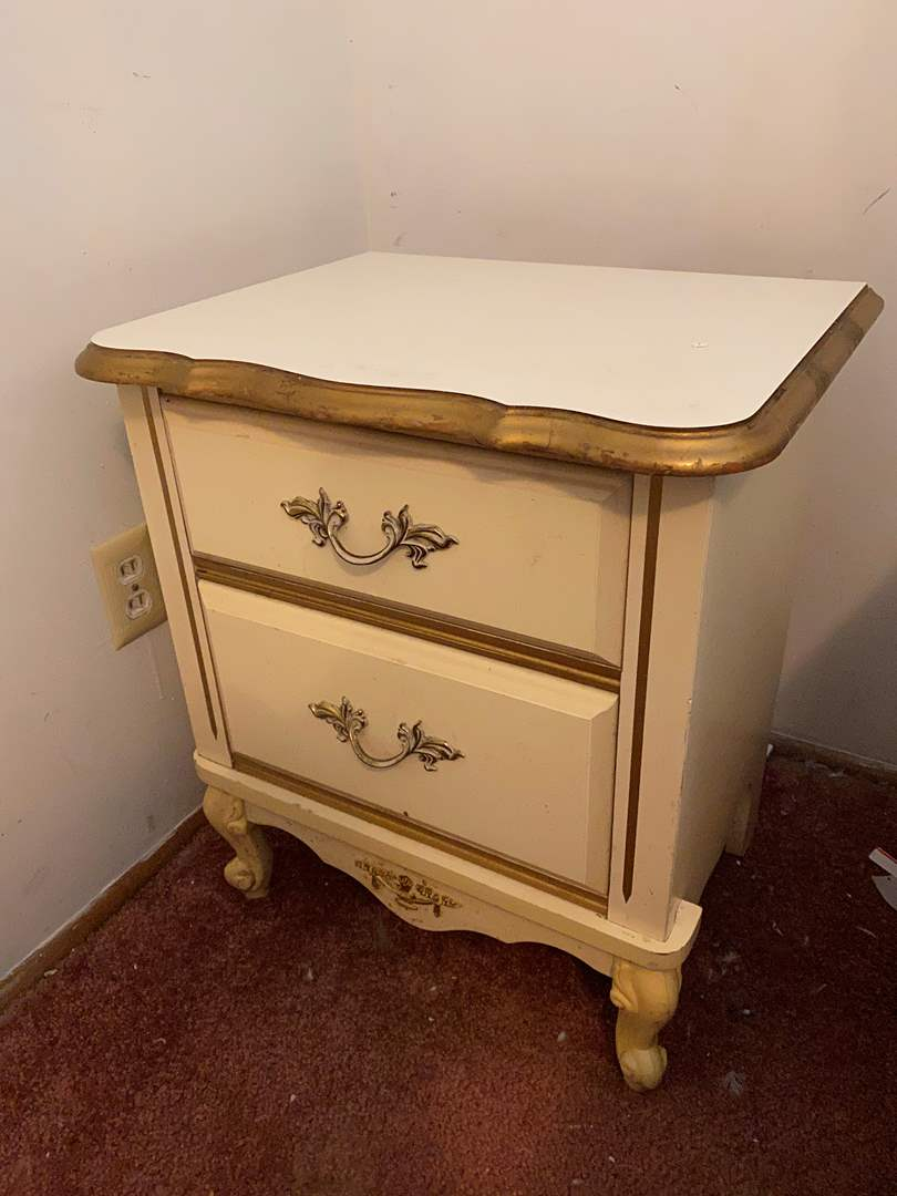 Lot # 37 - Vintage French Provincial Style Side Table  (main image)