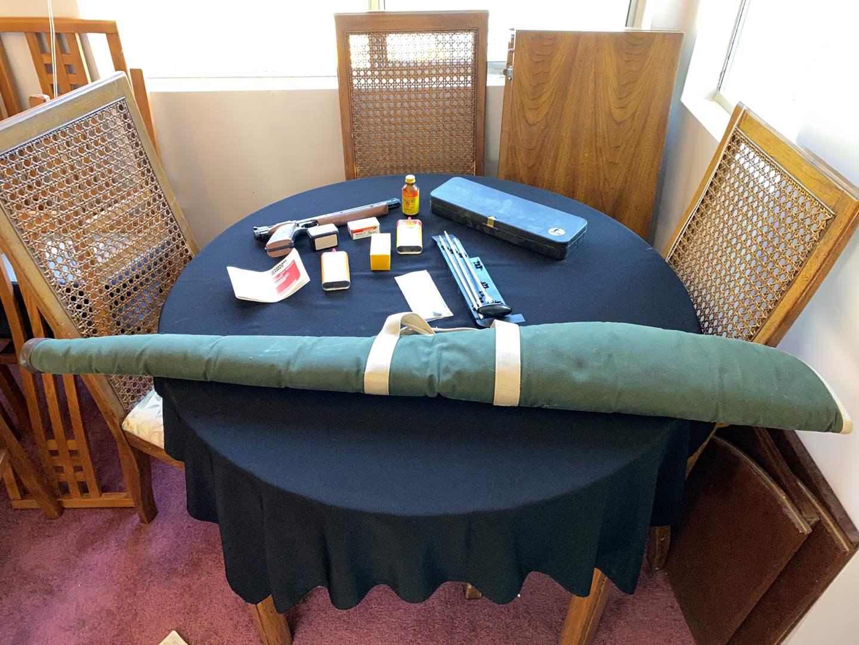 Lot # 224 - Crossman American Classic 1377 Air Gun, .22 Ammo, Pellets & More..  (main image)